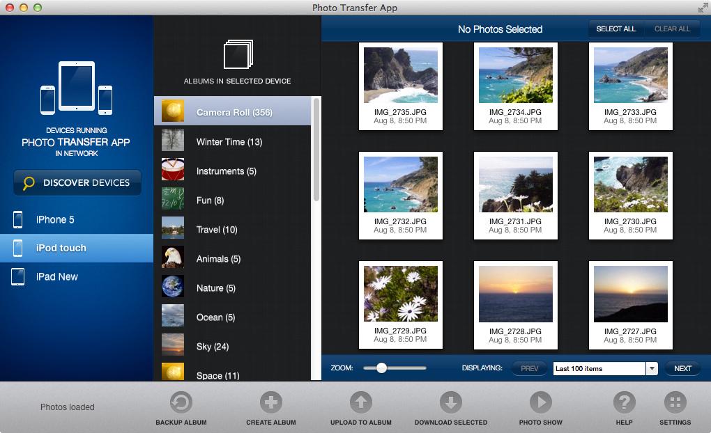 Photo Transfer App for Mac full screenshot