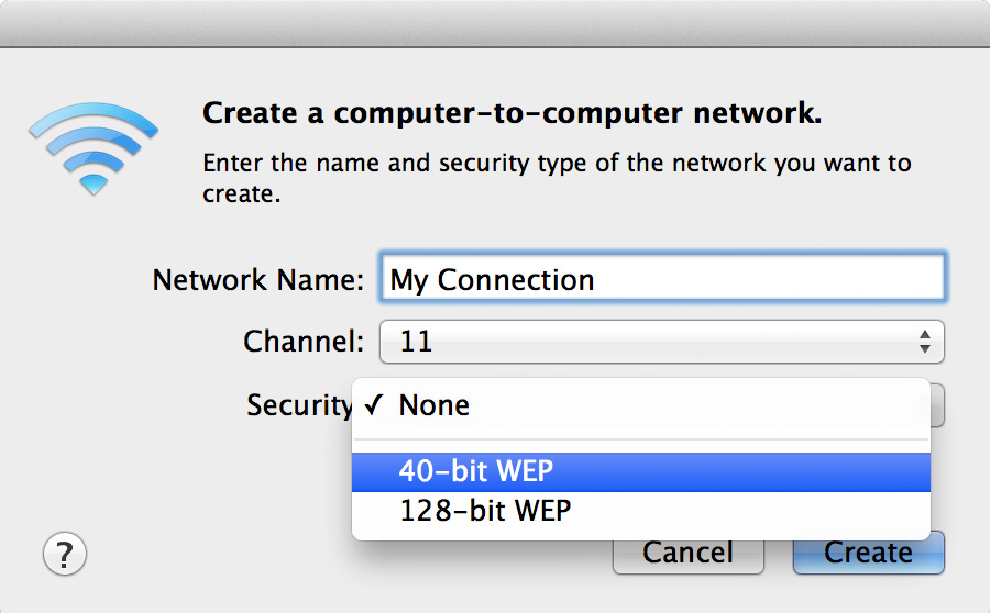 Security 40-bit WEP