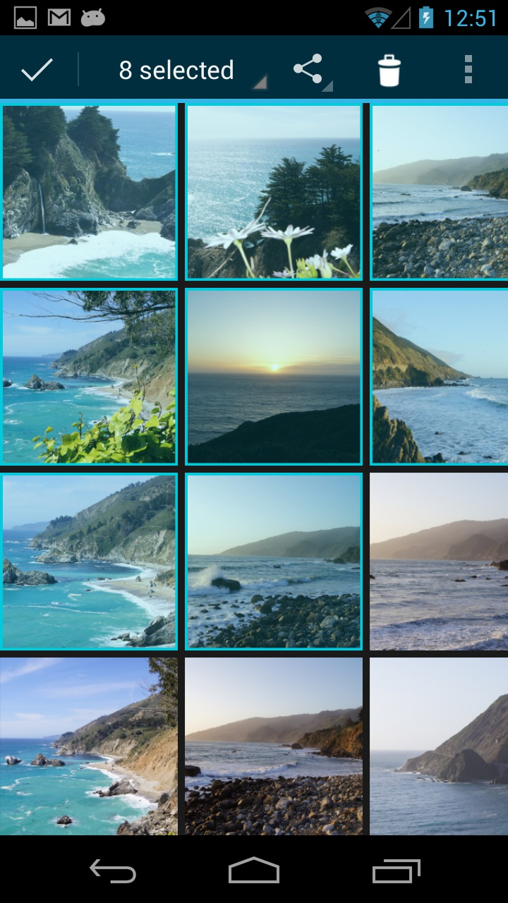 Photo Transfer App | Android Help Pages - Selecting photos