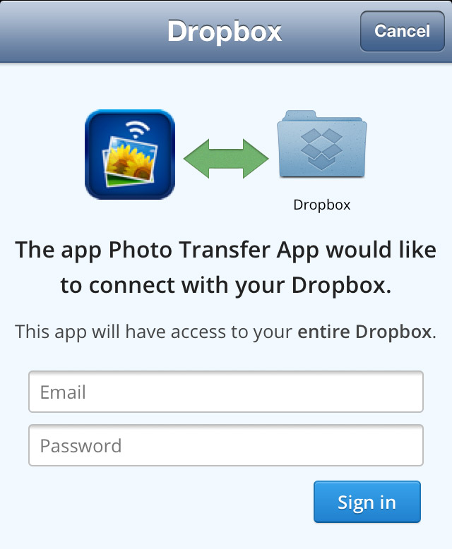 Photo Transfer App | Dropbox Plugin - How to Select and Download photos