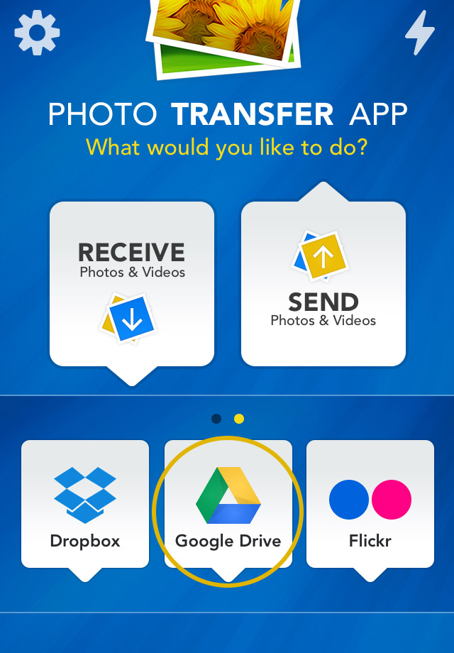 Photo Transfer App | Google Drive Plugin - How to Select and