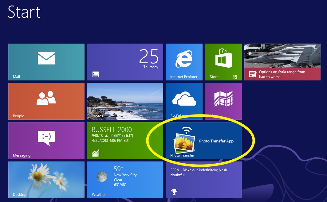 Photo Transfer App | Windows 8 Help Pages - Transfer photos