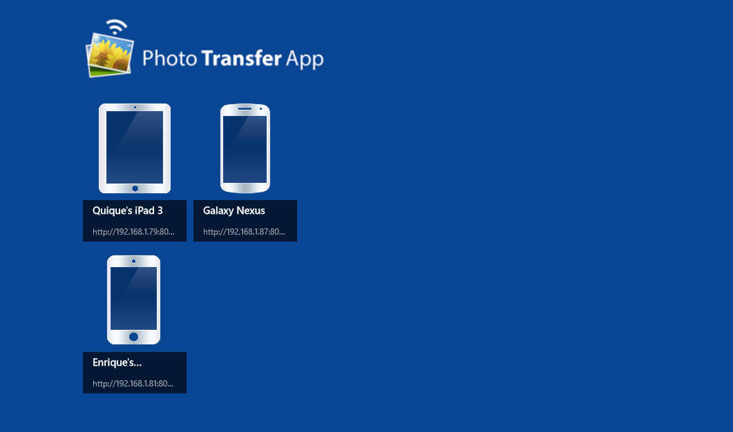 Photo transfer app | for windows 8.
