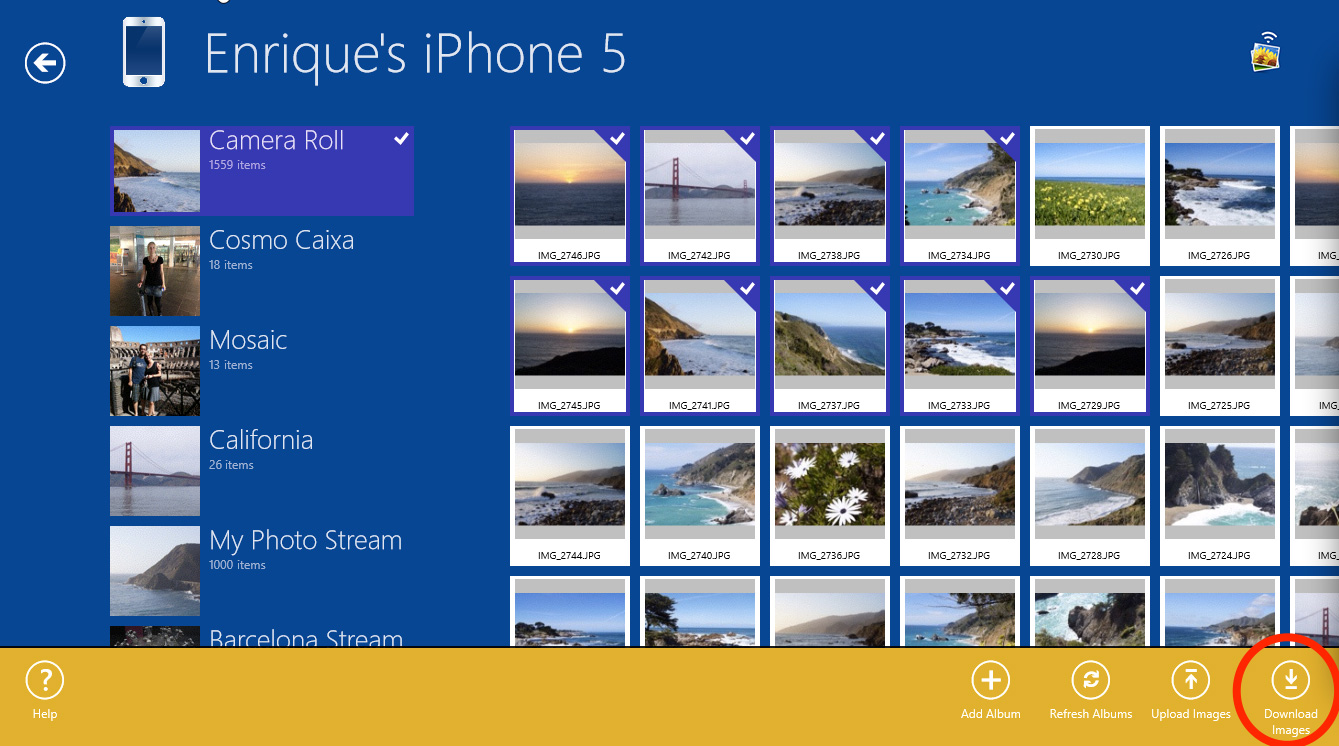 Transfer Photos From iPhone 5 to Windows 8